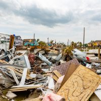 damage by hurricane Harvey taken just days after the storm.